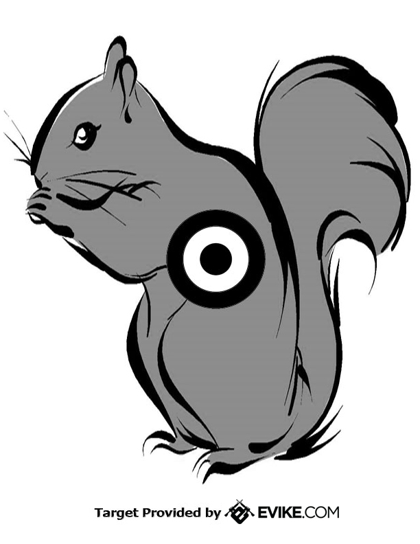 Clever image for printable squirrel target