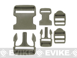 Voodoo Tactical Field Repair Buckle Kit for Vests / Plate Carriers / Harnesses - OD Green