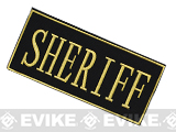 Voodoo Tactical Sheriff Embroidered Hook and Loop  Morale Patch - Gold (Large)