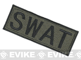 Voodoo Tactical SWAT Embroidered Hook and Loop Morale Patch - OD Green (Large)