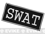 Voodoo Tactical SWAT Embroidered Hook and Loop Morale Patch - White (Large)