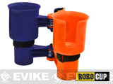 The RoboCup Portable Beverage Caddy (Color: Navy Orange)