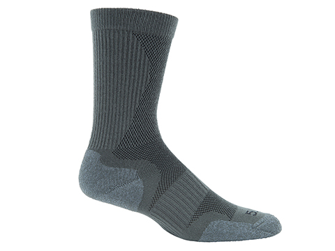 5.11 Tactical Slip Stream Crew Sock - Gun Metal (Size: Large)