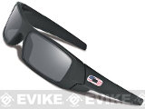 Oakley SI Gascan - Matte Black w/ Grey Lens w/ US Flag Icon