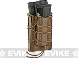 HSGI Double Decker TACO® Modular Single Rifle and Pistol Magazine Pouch (Color: MOLLE / Coyote Brown)