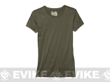 Under Armour Womens UA Tactical Charged Cotton® T-Shirt - OD Green (Size: Large)