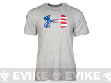 Under Armour Men's UA Big Flag Logo T-Shirt - True Heather Gray (Size: Medium)