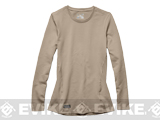 Under Armour Women's Tactical Cold Gear® Crew Neck Long Sleeve T-Shirt - Desert (Size: Large)