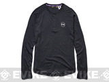Under Armour Men's UA Freedom Long Sleeve Henley - Black (Large)