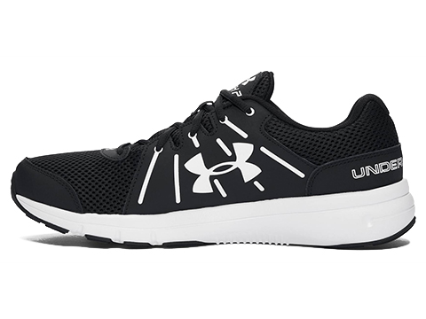 Under Armour Dash RN 2 Running Shoe - Black / White