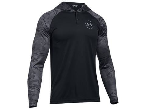 z Under Armour Freedom Tech Hoodie - Black / Graphite (Size: Medium)