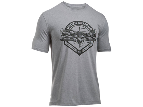 Under Armour Men's UA Freedom By Air T-Shirt - Heather Grey (Size: Small)