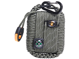 12 Survivors Outdoor Survival Paracord Survival Pod