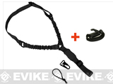 Satellite TRI One-Point Bungee Sling & Sling Catch - Black