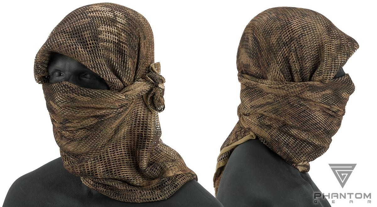 Phantom Gear Perforated Sniper Veil (Color: Desert Python)