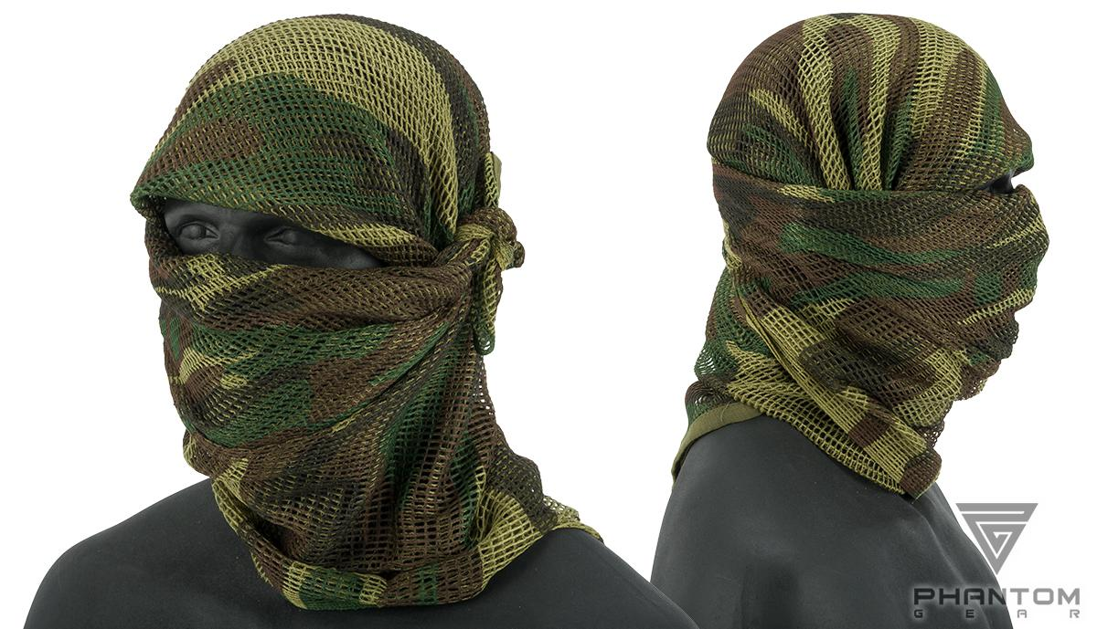 Phantom Gear Perforated Battle Sized Sniper Veil (Color: Woodland)