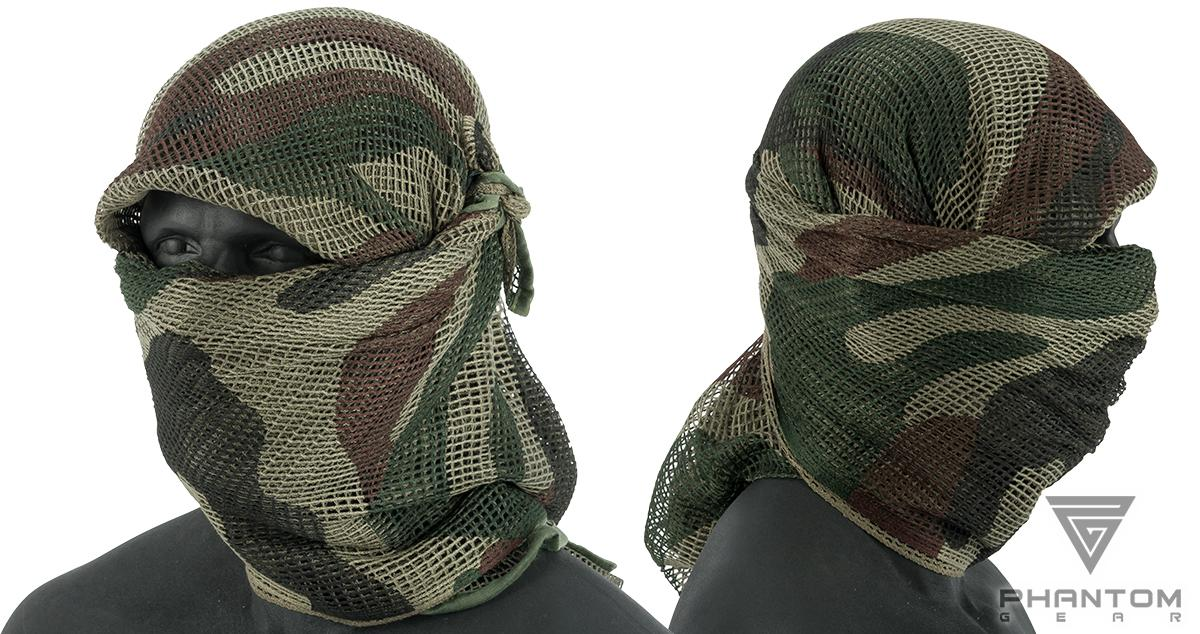 Phantom Gear Perforated Sniper Veil (Color: French Central Europe Pattern)