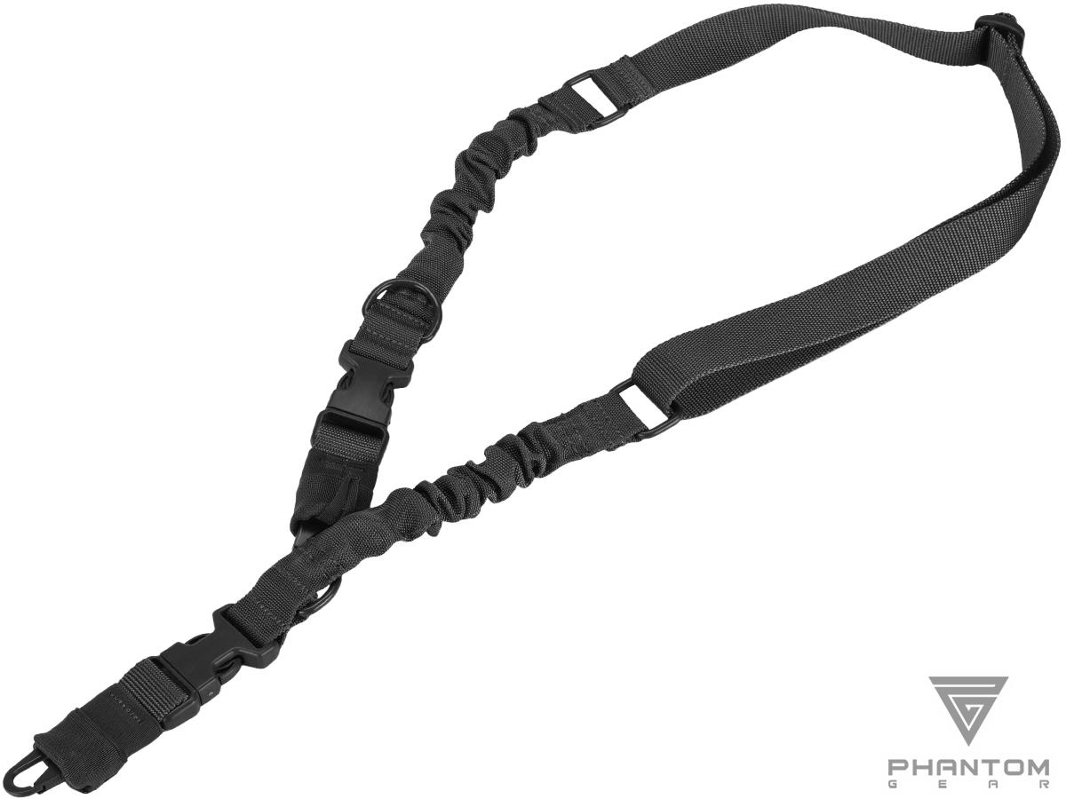 Phantom Gear Convertible 2-1 Point Tactical Sling (Color: Black)