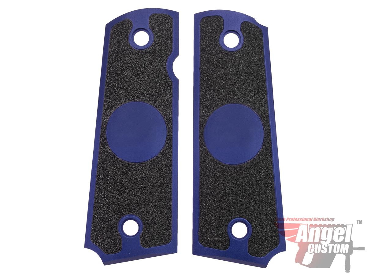 Angel Custom CNC Machined Tac-Glove Universal Grips for 1911 Series Pistols (Color: Navy Blue / Blank)