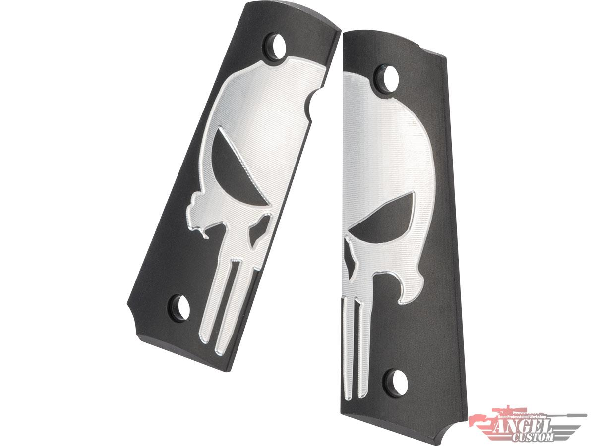 Angel Custom CNC Aluminum Grip Panels for 1911 Airsoft Pistols (Style: SEAL Skull)
