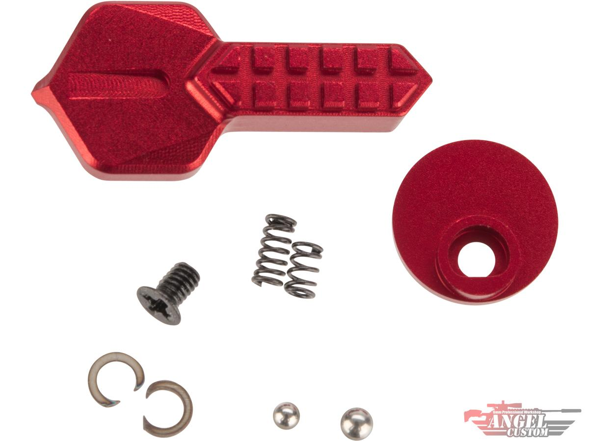 Pre-Order ETA July 2021 Angel Custom HEX CNC Selector Switch for M4/M16 Series Airsoft AEGs (Color: Red)