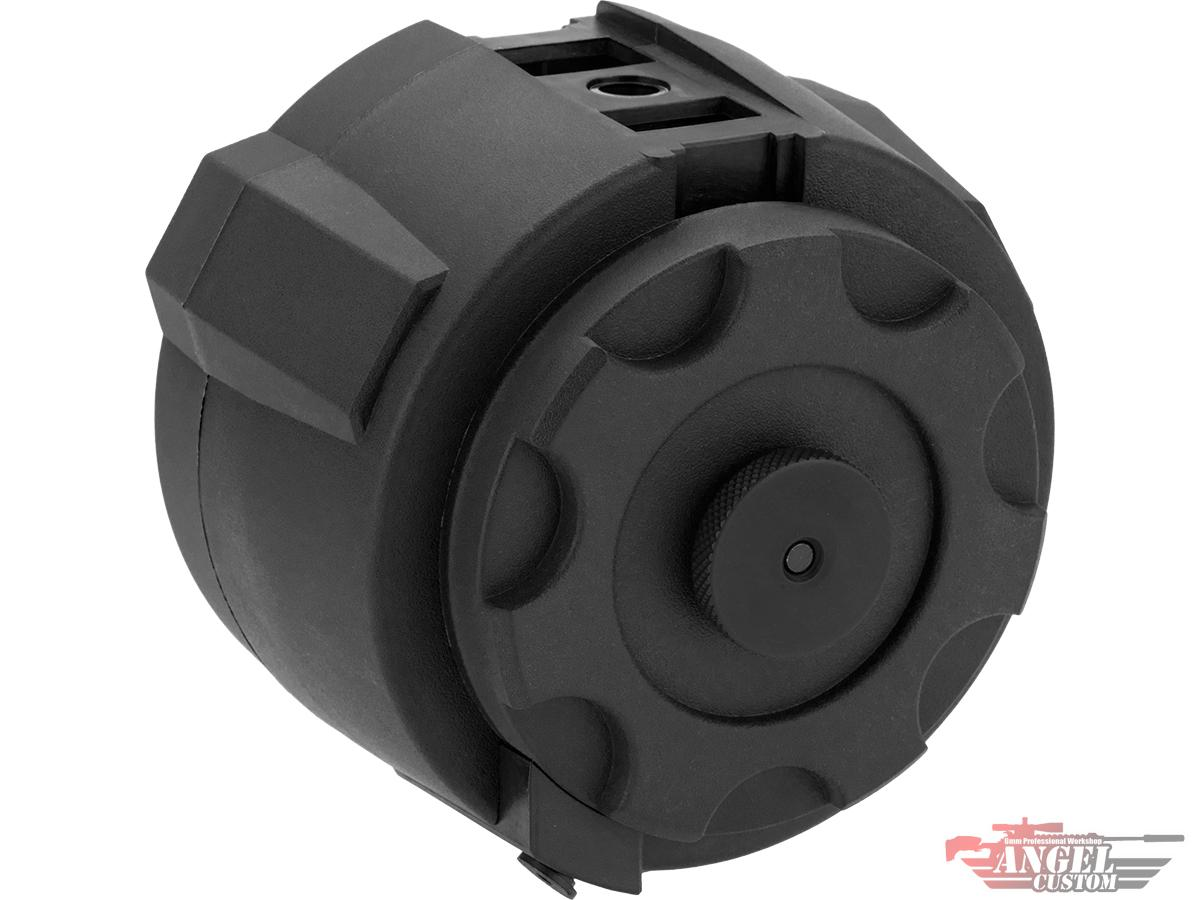Pre-Order ETA June 2021 Angel Custom 1500 Round Firestorm Airsoft AEG Drum Flashmag (Color: Black / Body Only)