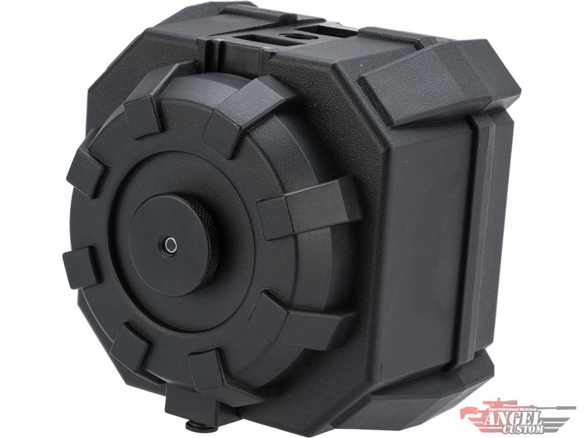 Angel Custom 2000 Round BLOK Firestorm Airsoft AEG Drum Flashmag (Color: Black / Body Only)