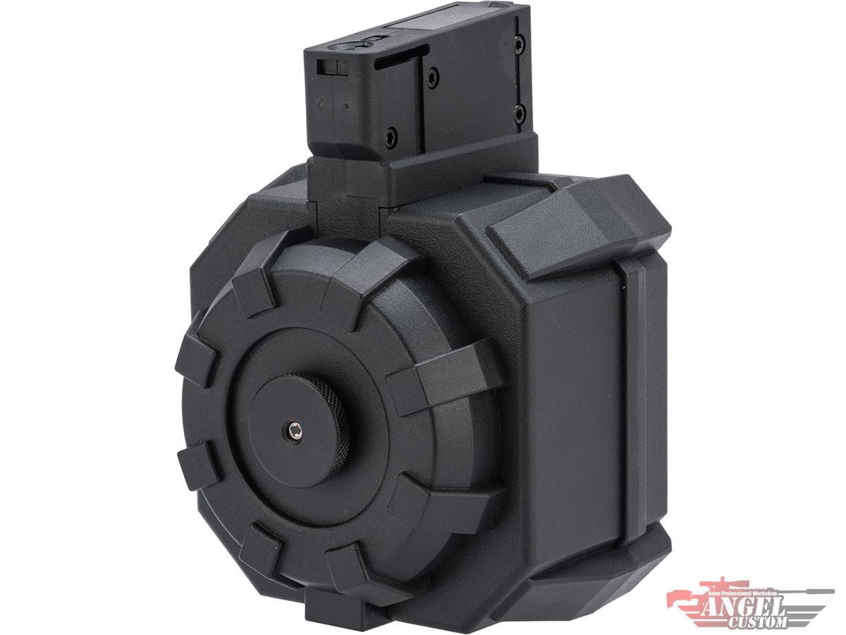 Angel Custom 2000 Round BLOK Thunderstorm Airsoft AEG Drum Flashmag (Color: Black / M14 Adapter)