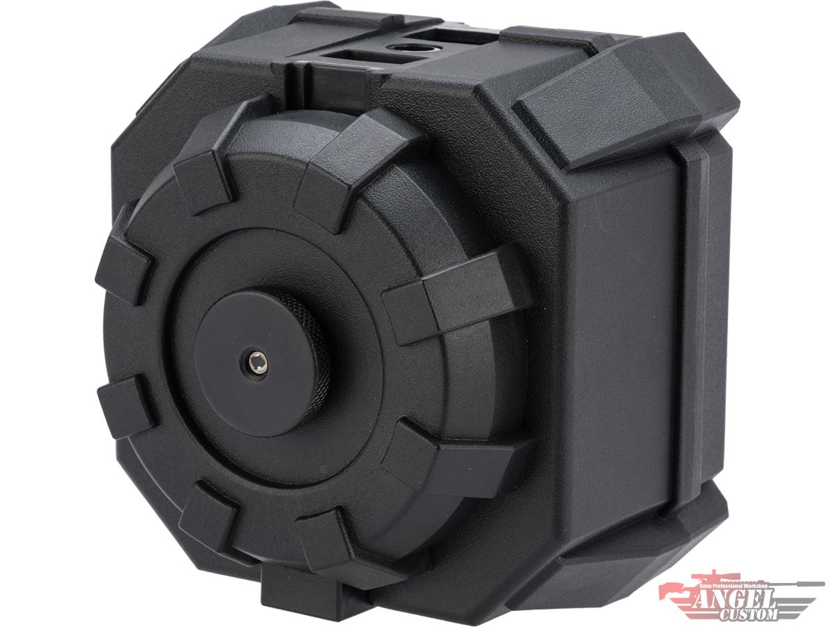 Angel Custom 2000 Round BLOK Thunderstorm Airsoft AEG Drum Flashmag (Color: Black / Body Only)
