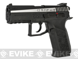 ASG CZ 75 P-07 Duty Blowback Co2 4.5mm (.177 cal NOT AIRSOFT) BB Pistol - Two Tone