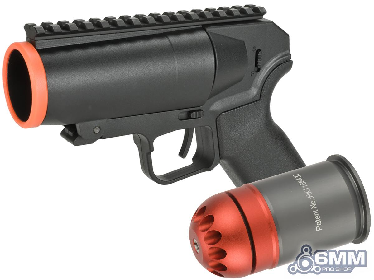 6mmProShop Airsoft Pocket Cannon Grenade Launcher Pistol (Package: Launcher + Matrix 60rd Grenade Shell)