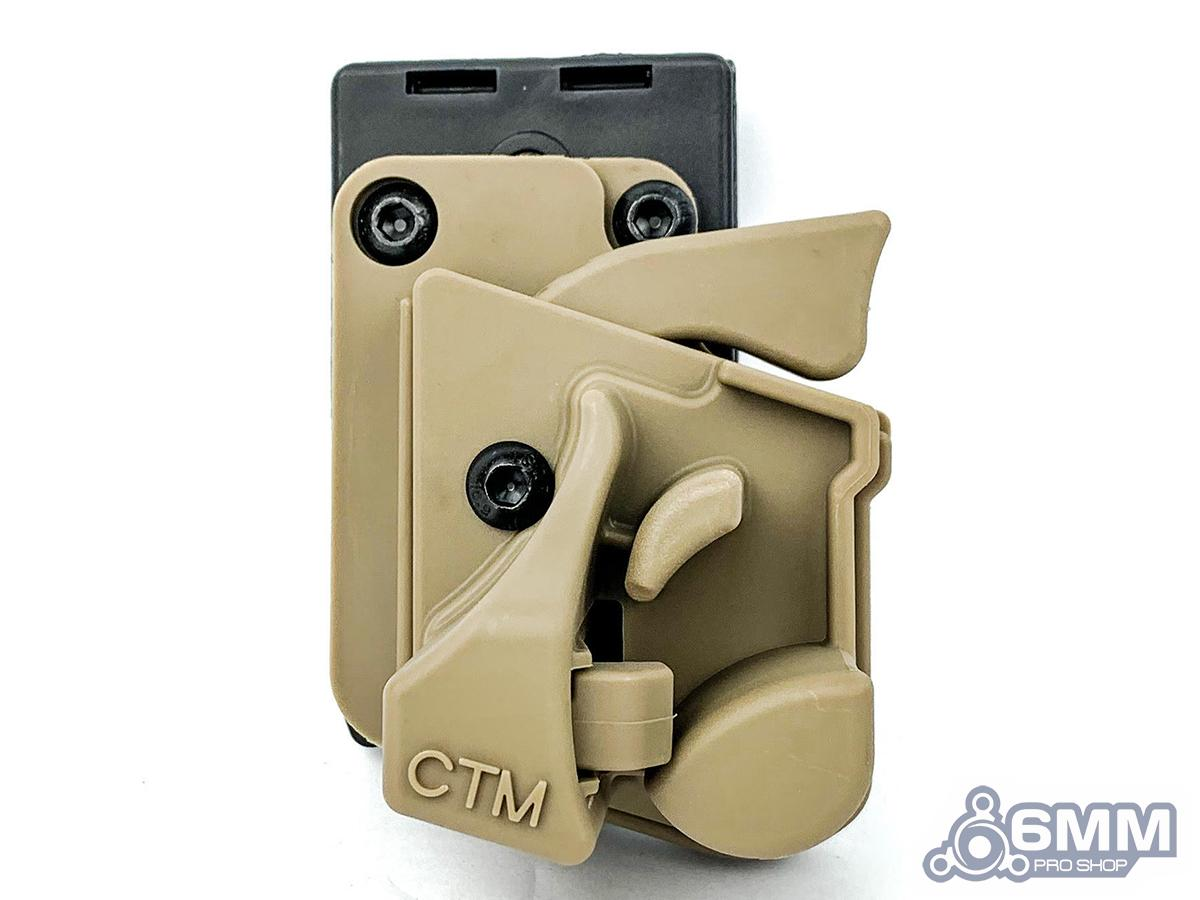 6mmProShop CTM Speed Draw Holster for Action Army AAP-01 Gas Airsoft Pistol (Color: Tan)