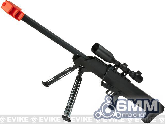 Pre-Order ETA May 2021 6mmProShop Barrett Licensed M99 Bolt Action Airsoft Long Range Sniper Rifle (Package: Black / Rifle & Bipod Only)