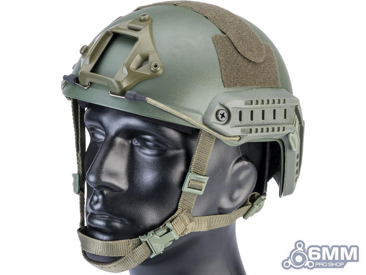 6mmProShop Advanced High Cut Ballistic Type Tactical Airsoft Bump Helmet (Color: OD Green / Large - Extra Large)