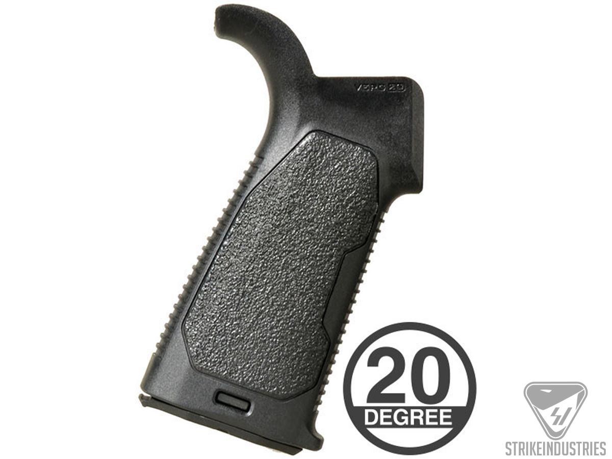 Strike Industries Enhanced Pistol Grip For AR15 Series Rifles (Type: 20 Degrees Grip Angle)