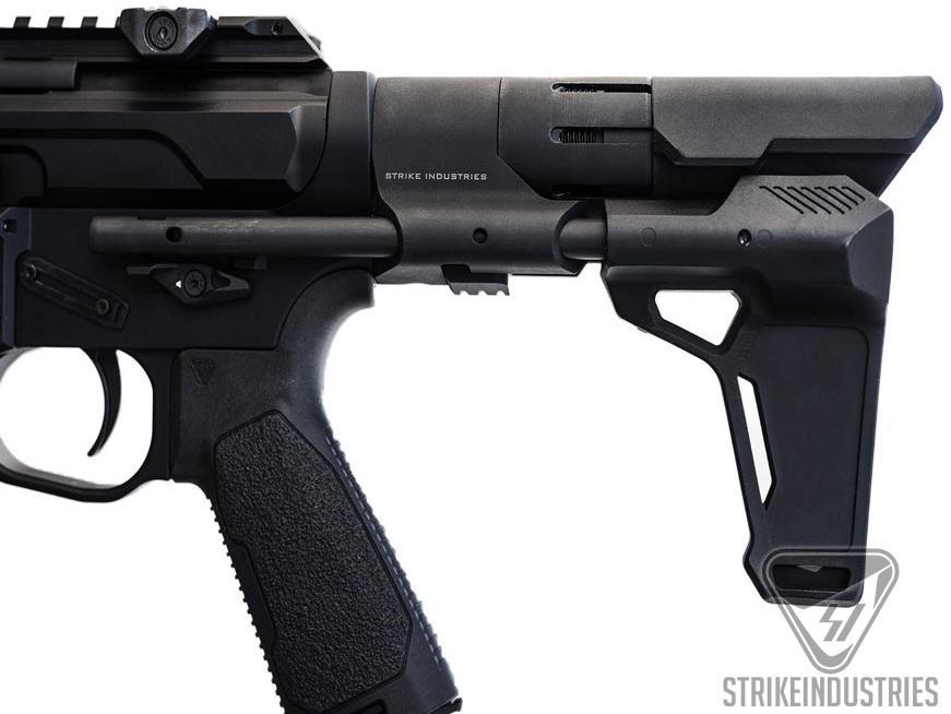 Strike Industries Rapid Deployment PDW Stabilizer for AR15 Rifles (Color: Black)