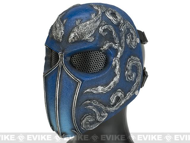 Evike.com R-Custom Fiberglass Wire Mesh Koi Full Face Mask - Blue