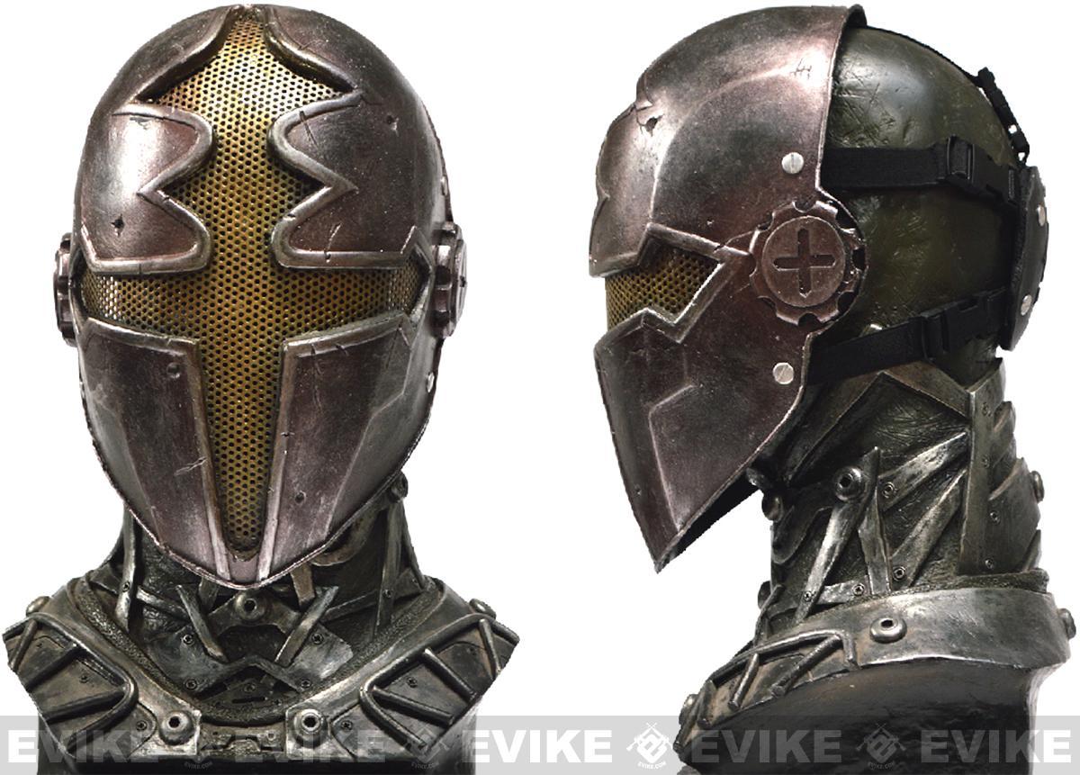 Evike.com R-Custom Fiberglass Wire Mesh Gold Paladin Mask Inspired by Hellgate