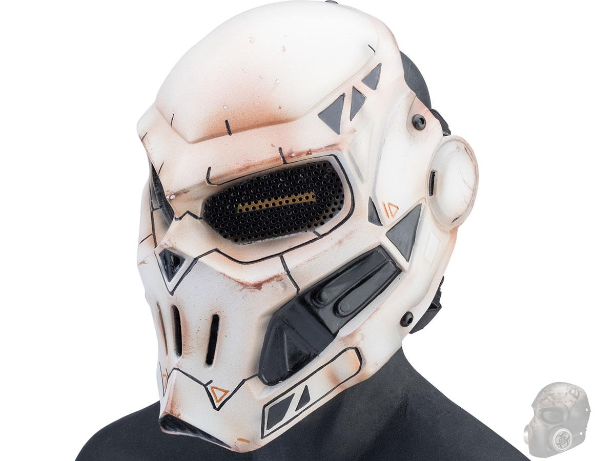 Evike.com R-Custom Fiberglass Taskmaster V2 Full Face Mask (Color: White / Mesh Lens)