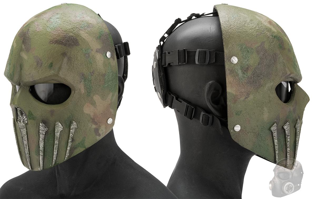 Evike.com R-Custom Fiberglass  Wraith Full Face Mask with Grey Lens (Color: Woodland)