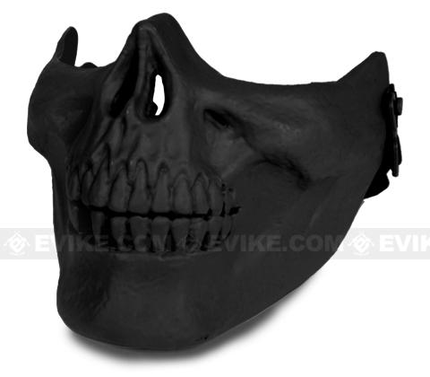 Avengers Skull Iron Face Lower Half Mask (Color: Black)