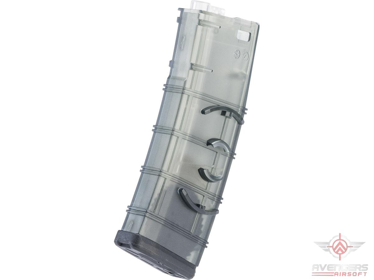 Avengers Interlocking 370rd High-Cap Translucent Polymer Magazine for M4/M16 Series Airsoft AEG Rifles w/ Magazine Clip