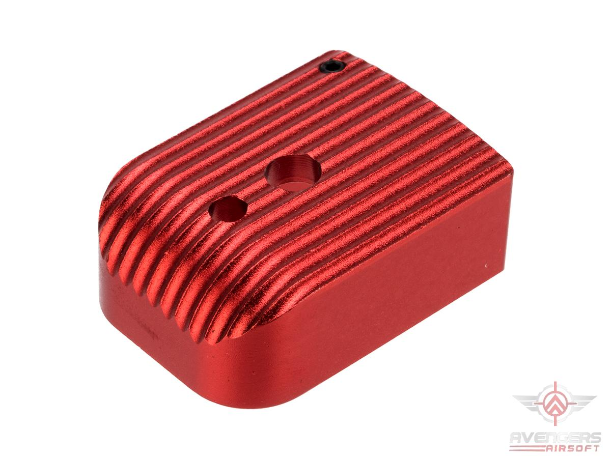 Avengers Type - 5 Aluminum Magazine Base for 5.1 Hi-Capa Series Airsoft GBB Pistol Magazines (Color: Red)