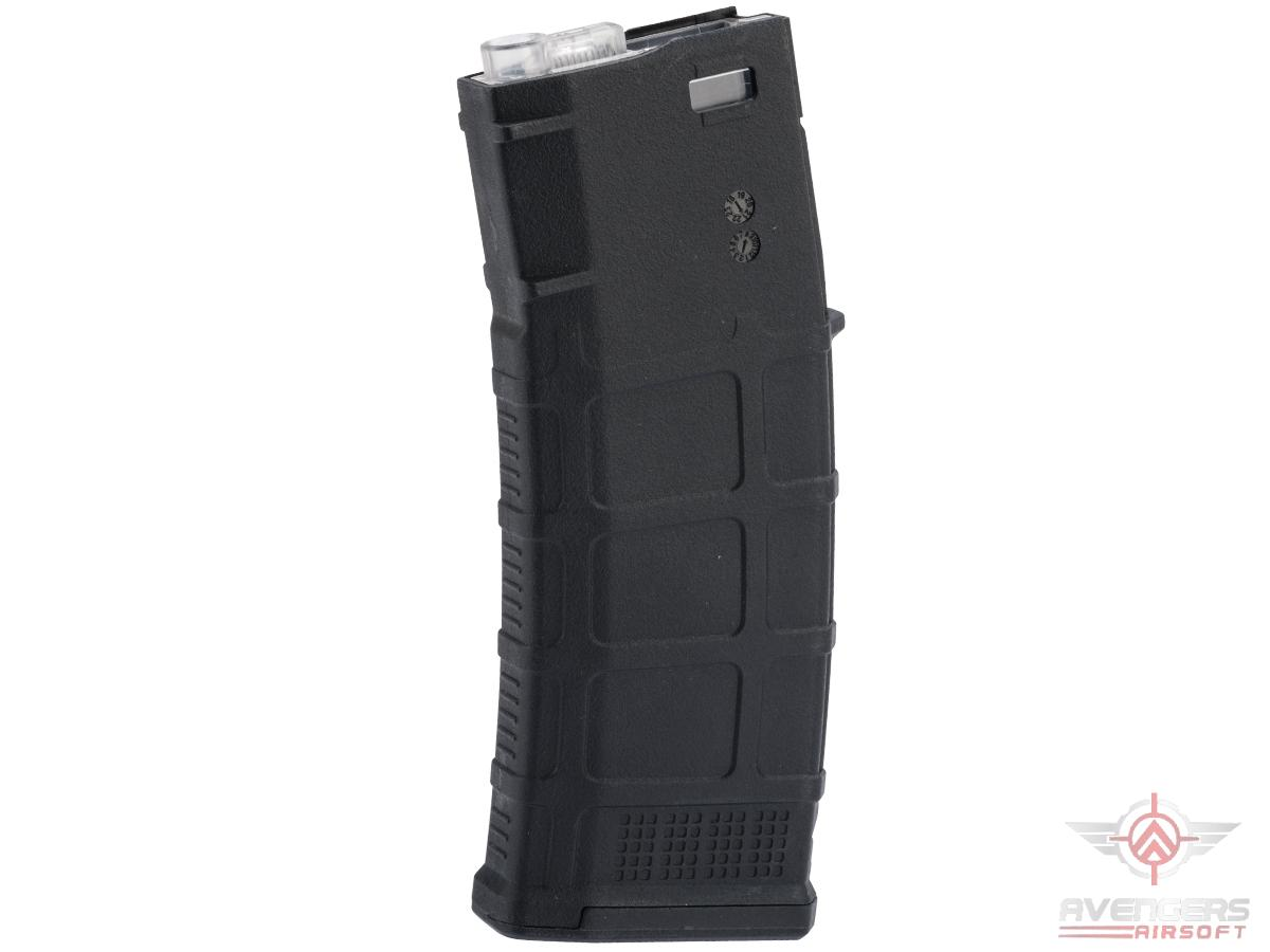 Avengers Polymer Magazine for M4/M16 Series Airsoft AEG Rifles (Color: Black / 370rd Flash Mag)