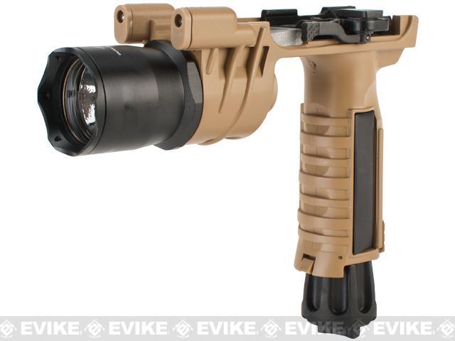 Avengers M900 Tactical Illuminator Vertical Grip w/ Xenon Grip Light for Airsoft (Color: Desert)