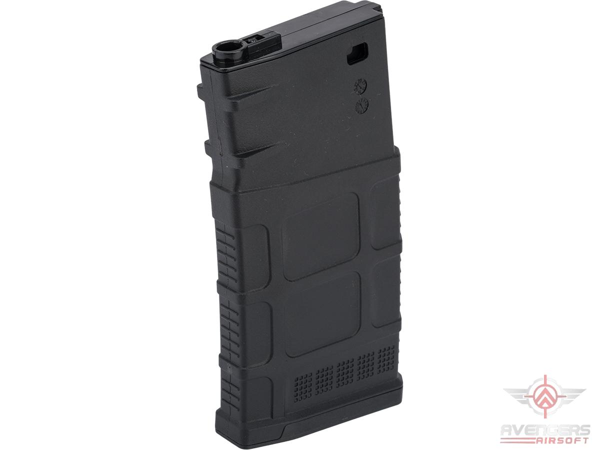Avengers Polymer Magazine for SR-25 Series Airsoft AEG Rifles (Color: Black / 120rd Mid-Cap)