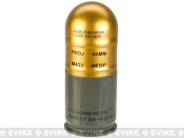 Avengers Airsoft M433 HEDP 40mm Dummy Grenade 4 Pack (Color: HEDP Gold)