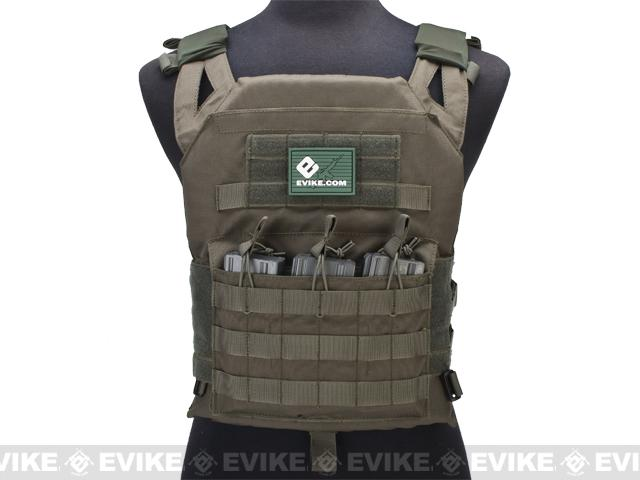 Avengers Compact Operator Airsoft High Speed JPC Plate Carrier (Color: Ranger Green / X-Large)