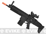 FN Herstal Full Metal SCAR Heavy CQC Airsoft AEG Rifle by Softair - Black