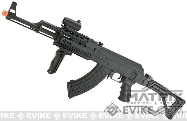 Matrix AK47 RIS Special Forces Airsoft AEG Rifle w/ Skeleton Side-folding Stock by CYMA - (Package: Gun Only)